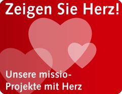 Missio-Projekte Zeigen Sie Herz